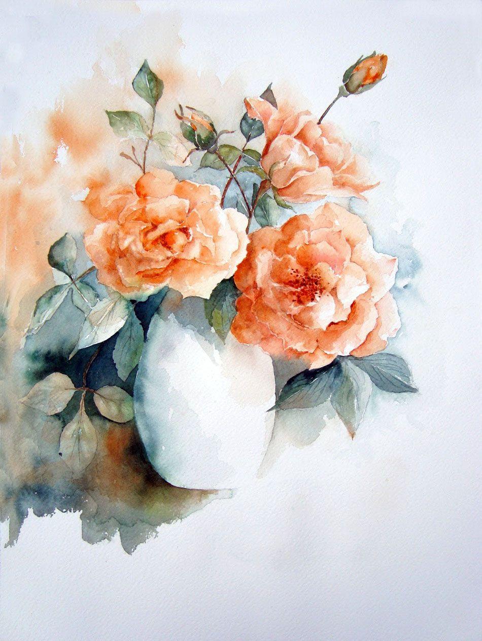 счастья акварельные цветы картинки образом