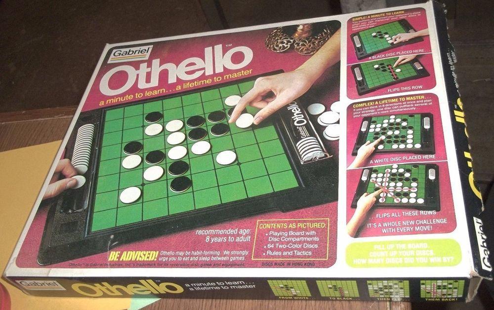 VINTAGE 1975 GABRIEL OTHELLO 76390 BOARD GAME (QQ3) Toys