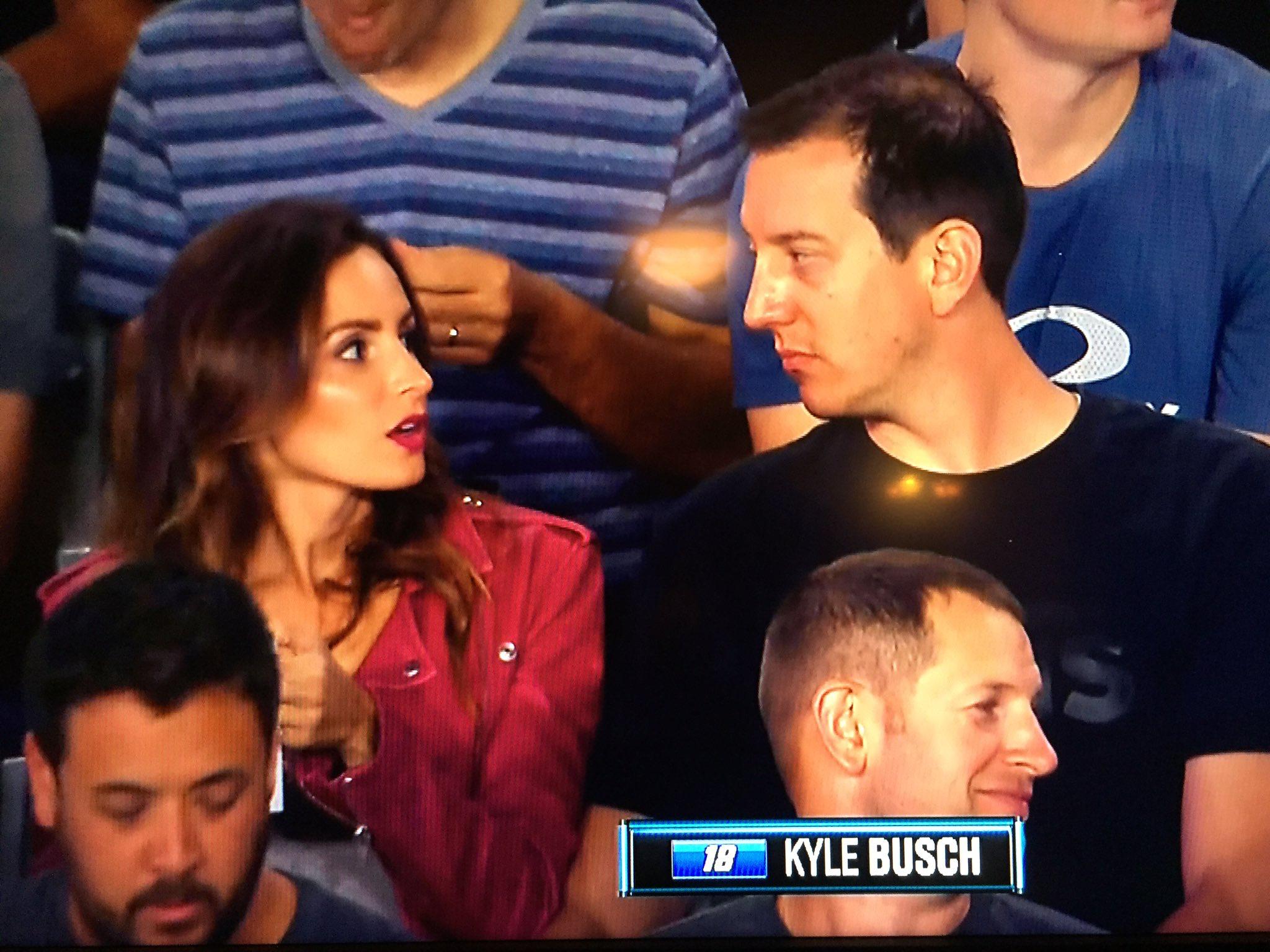 🙈 serious convo over a hot pretzel or churro debate RT @JMorrisTV: Smile. You're on candid camera. Thursday night football love for @SamanthaBusch @KyleBusch #NASCAR