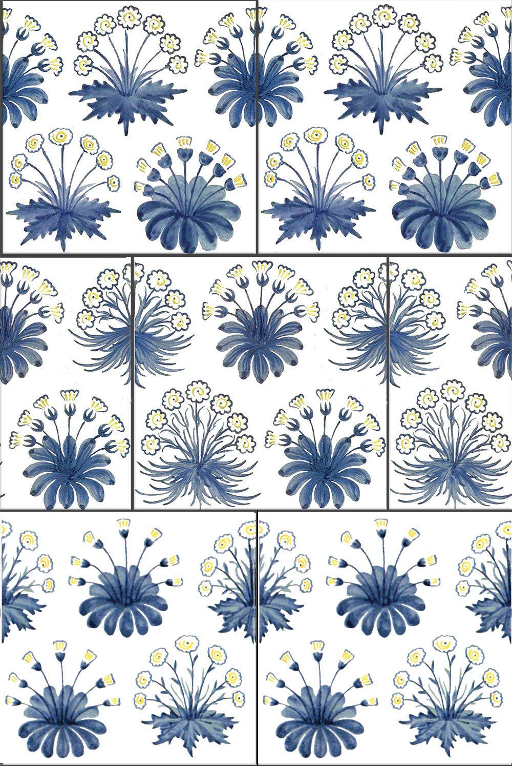 William Morris Daisy Tiles, 1860s-1882 | Your Pinterest likes ...