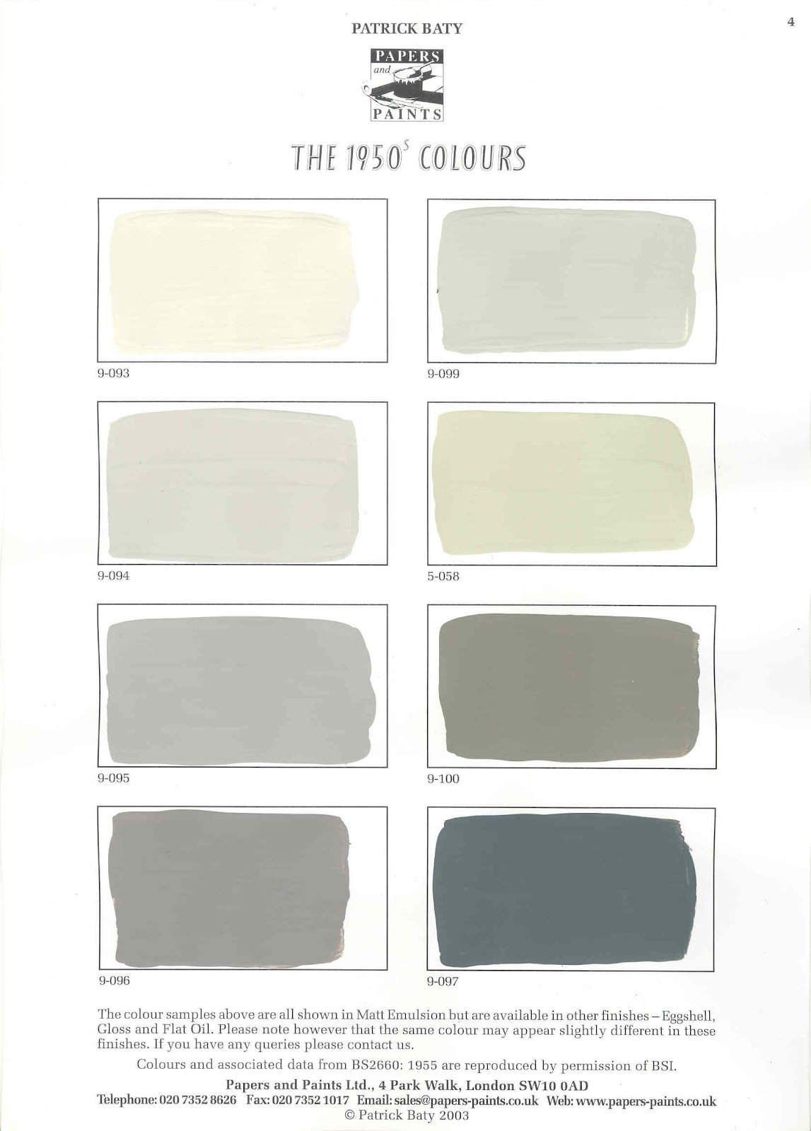 Mission style paint colors one of the color charts of the 1950s mission style paint colors one of the color charts of the 1950s range from papers nvjuhfo Choice Image
