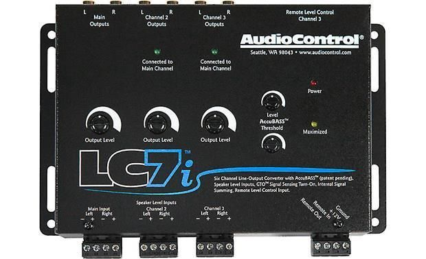 New Audiocontrol Lc7i 6 Channel Line Output Converter With Bass Restoration Custom Car Audio Converter Car Audio