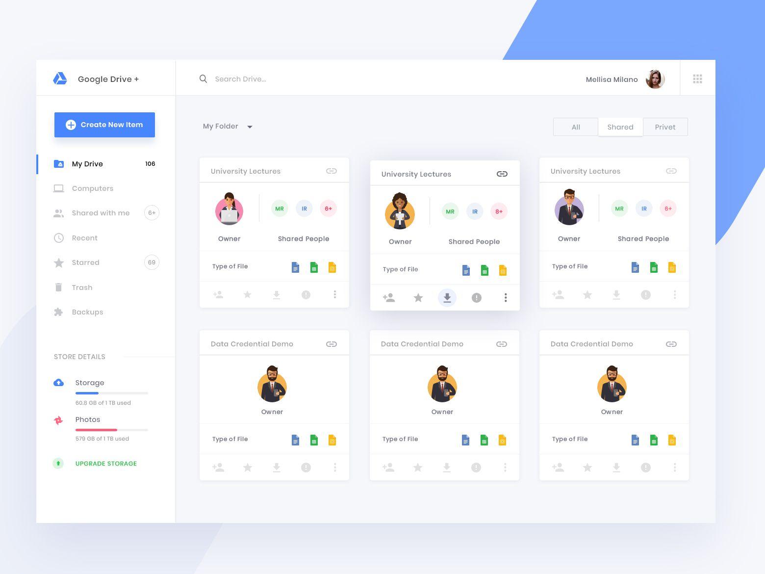Google Drive Concept Design Web Design Creative Web Design Web App Design