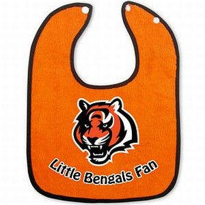 Cincinnati Bengals Two-Toned Snap Baby Bib