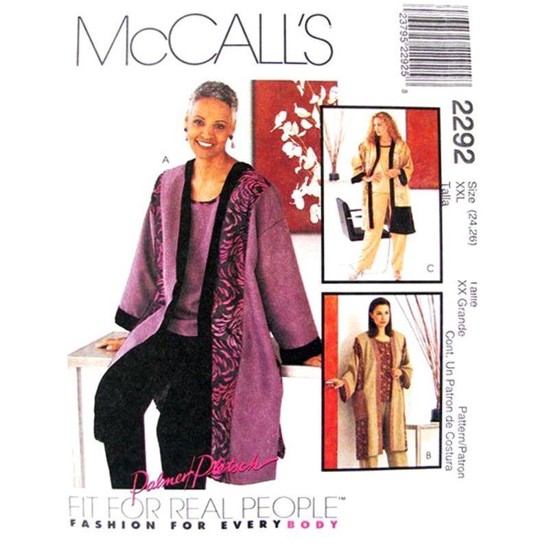 Kimono Jacket Top and Pants Pattern McCalls 2292 Trousers Womens ...
