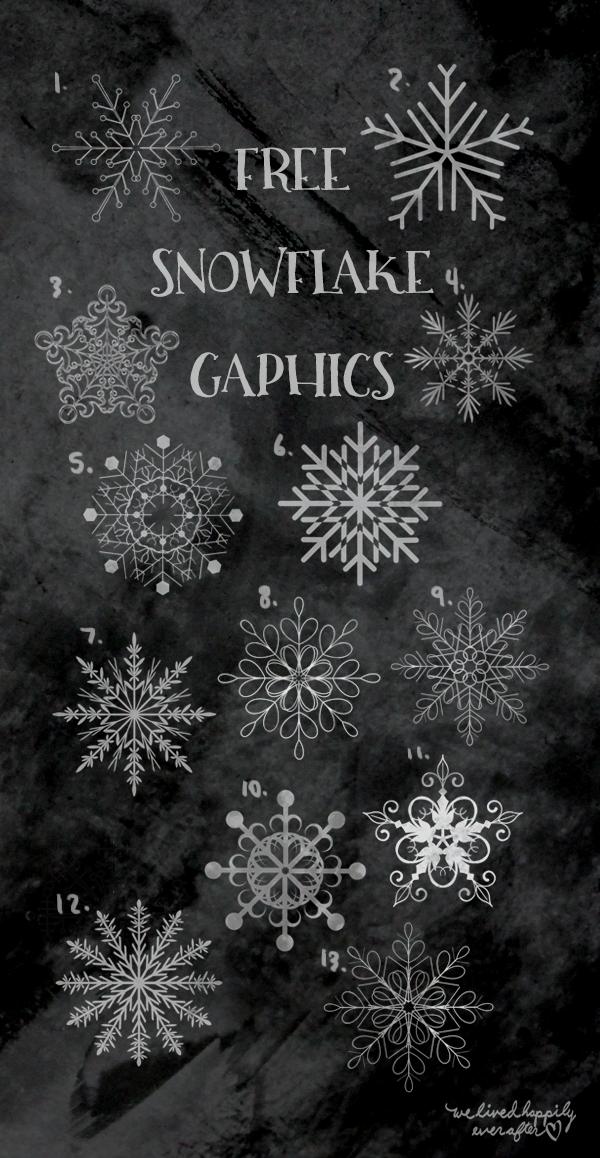 Snowflake Clip Art Freebies                                                                                                                                                                                 More