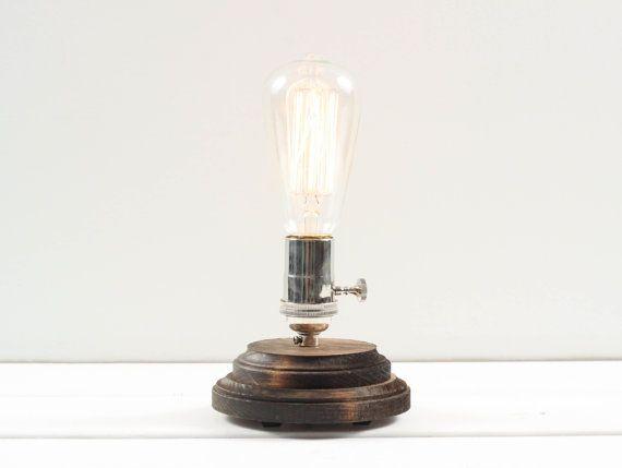 Etsy Minimalist Table Lamp Exposed Edison Bulb Lamp Minimalist Tables Edison Bulb
