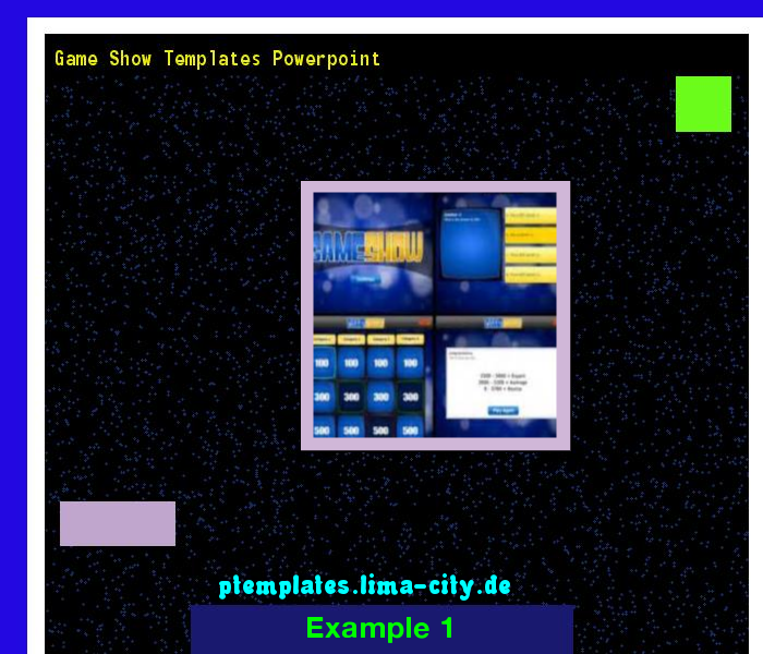 game show templates