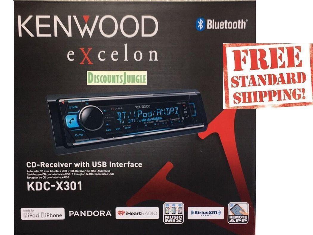 KENWOOD EXCELON KDC-X301 1DIN CAR CD BLUETOOTH STEREO W