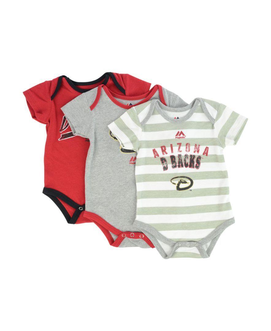 Majestic Babies' Arizona Diamondbacks 3Piece Bodysuit Set