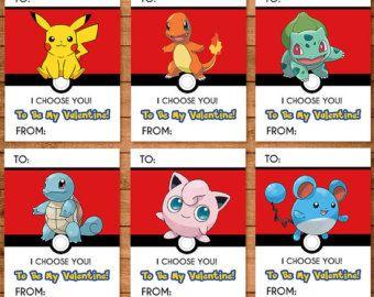 Pokemon Valentines Day Card Pokemon By Ninelivesnotenough On Etsy