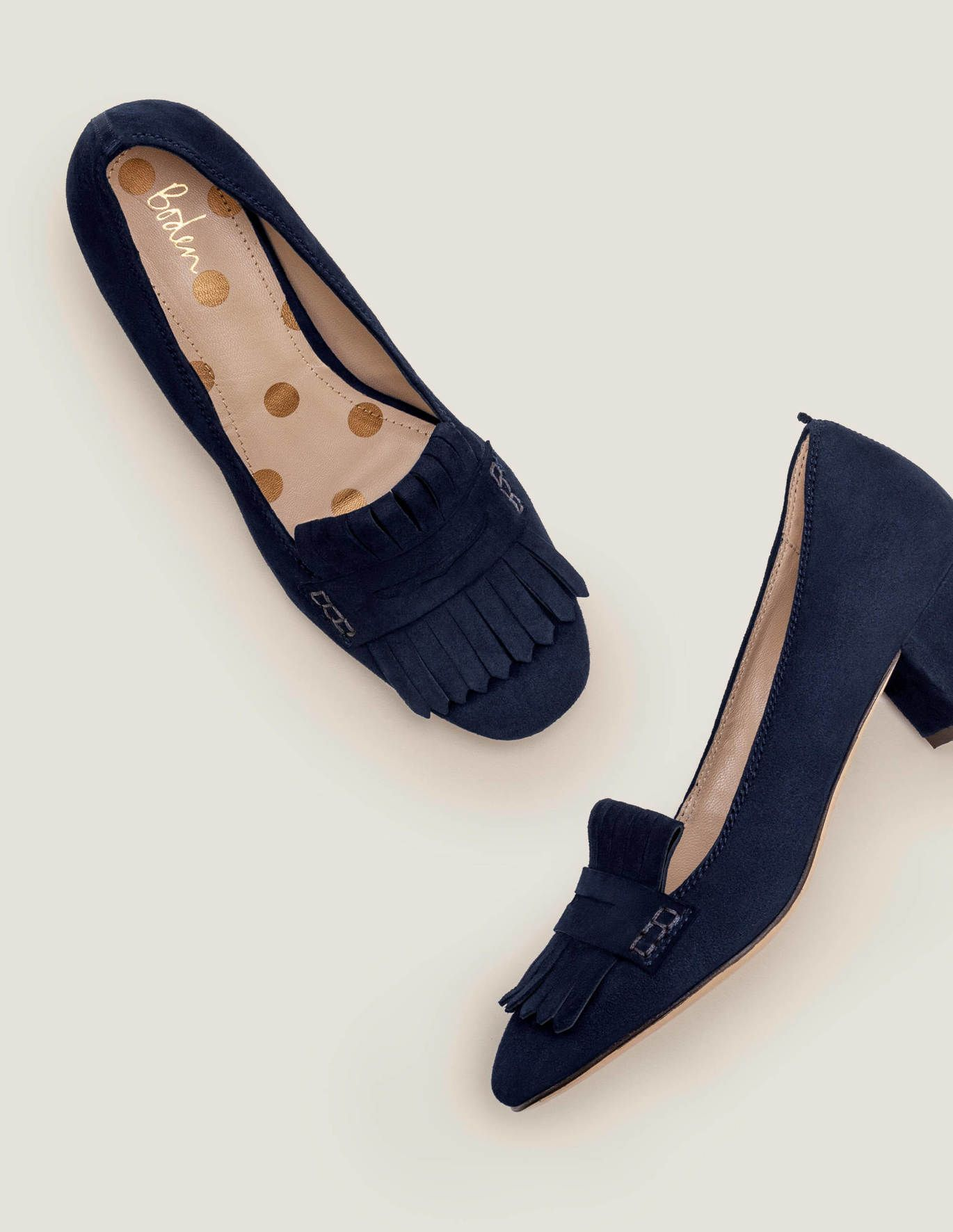 UK Women Block Mid Heels Pointy Toe Suede Sandals Loafers Ankle Strap Shoes Pump