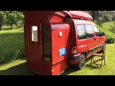 Clever Diy Pull Out Extensions Transform Ordinary Van Into Mini Camper Video Treehugger Mini Camper Berlingo Camper Car Camper
