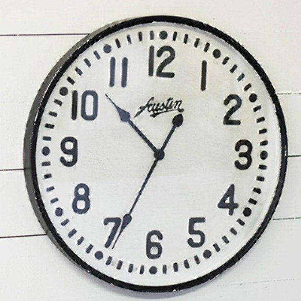 Classic Round Pressed Tin Wall Clock   Wall Decor   Pinterest ...