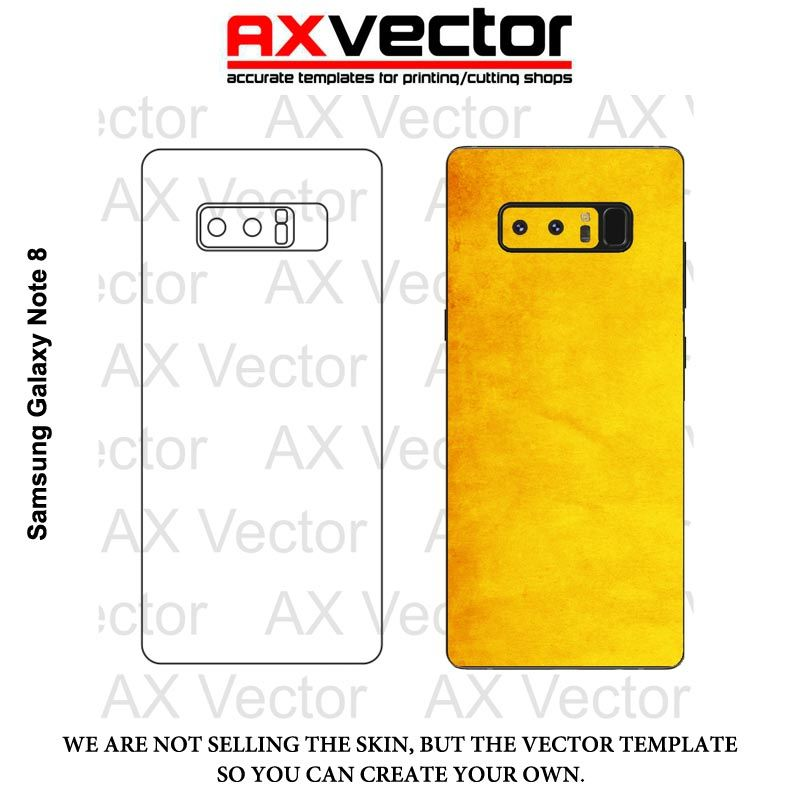 Samsung Galaxy Note 8 Vector Template phone templates Pinterest