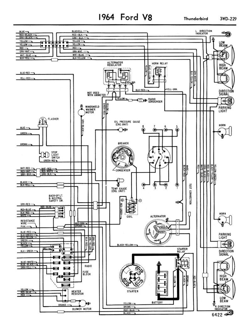 1958 68 Ford Electrical Schematics Diagram Electronic Schematics Automotive Repair