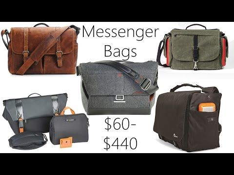 Messenger Bag Review: Everyday Messenger, Ona Brixton, Domke Herald, LowePro Urban Reporter, 24/7 - YouTube
