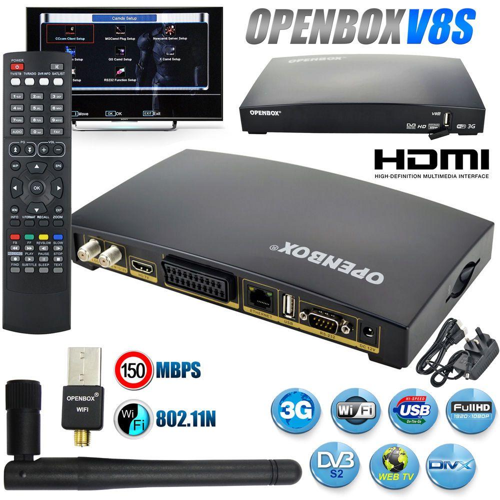 OPENBOX V8S Full HD Digital Freesat PVR TV Satellite