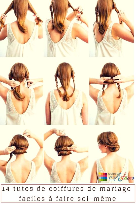 14 tutos de coiffures de mariage faciles à faire soimême