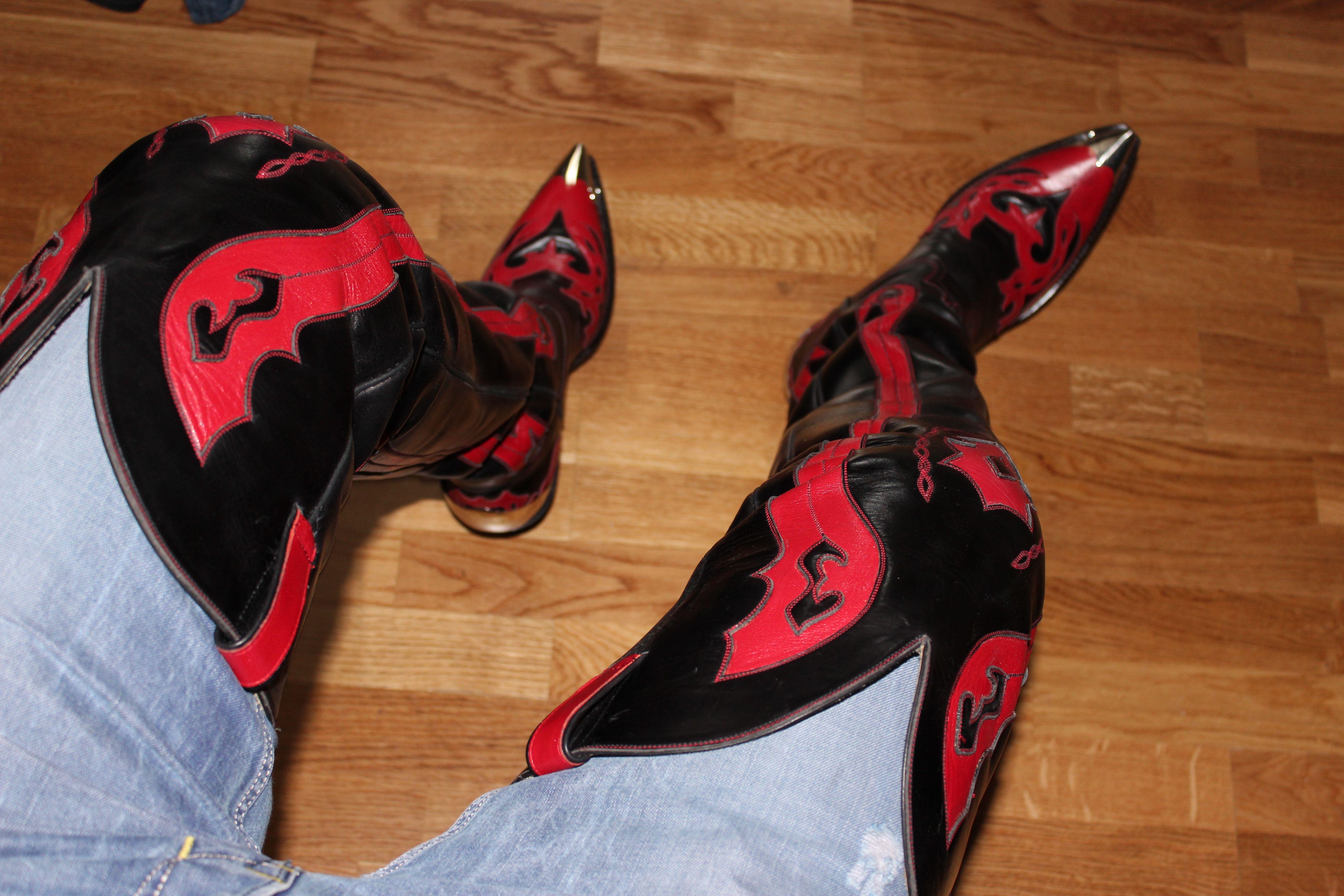 bottes de cowboy grosses jambes