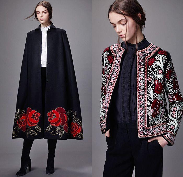 Vilshenko 2014 2015 Fall Autumn Winter Womens Lookbook Presentation Moscow Russia Fashion Show Roses Cape Outerwear R Fashion Fashion Week Runway Vilshenko