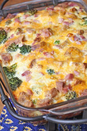 Ham and Broccoli Breakfast Casserole - $5 Dinners