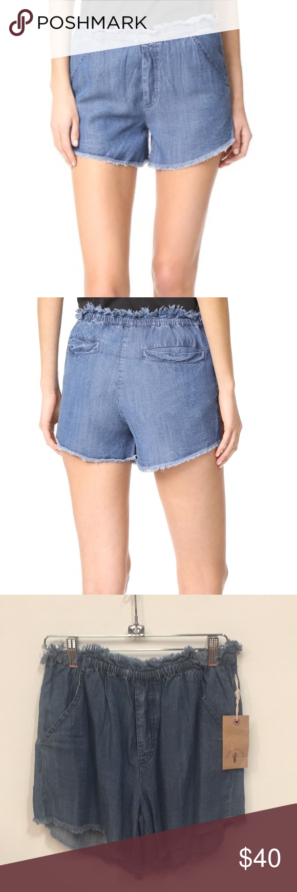 5aa1f41236ab Knot Sisters Jordan Shorts Chambray shorts with frayed hem and waist. Brand  new with tags Knot Sisters Shorts