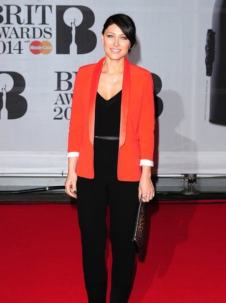 Emma Willis is understasted but chic in black and orange.  #BRITs2014