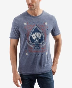 Lucky Brand Mens Burnout Color Block Woodstock Crew Neck Sweatshirt