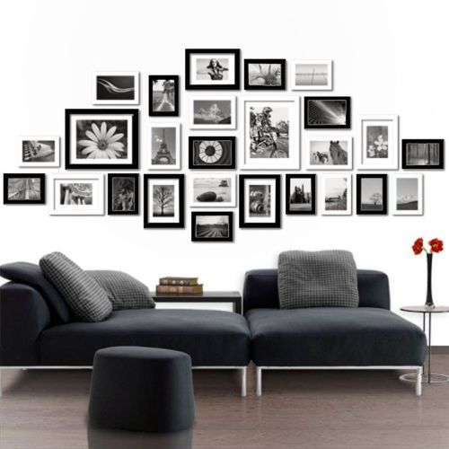 Multi Picture Photo Frames Wall Set 26 Pcs 164cm X 74cm Home Deco Collage Ebay Frames On Wall Picture Frame Decor Living Room Wall