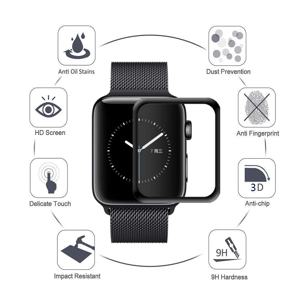 premium selection 96010 5bccb for Apple Watch Series 4 Screen Protector 40mm, Tempered Glass Full ...