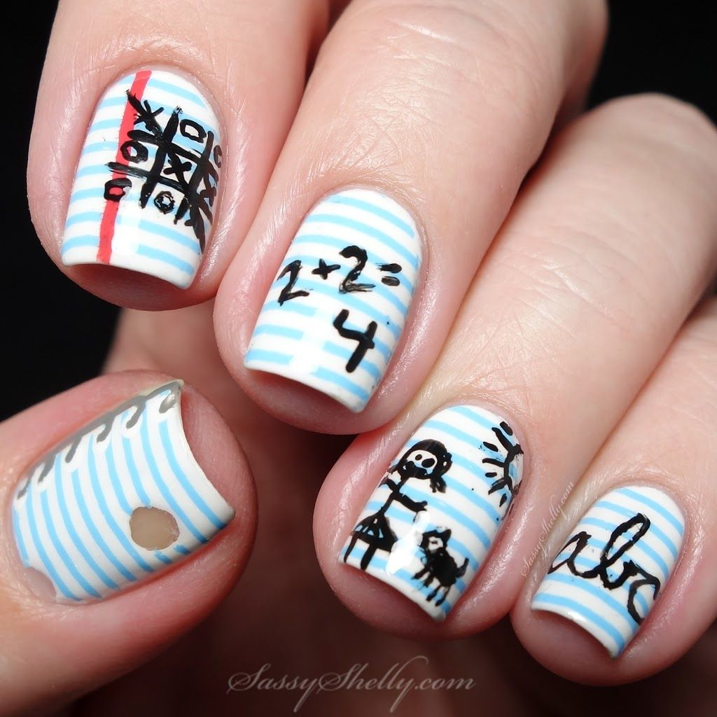 Notebook Paper Nail Art Sy Shelly