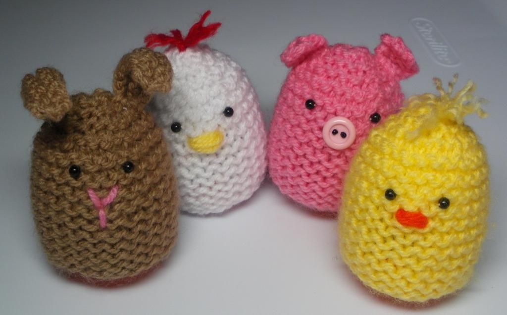 Craftsy: Cute Egg Cozies FREE knitting pattern by Audrey\'s Knits ...