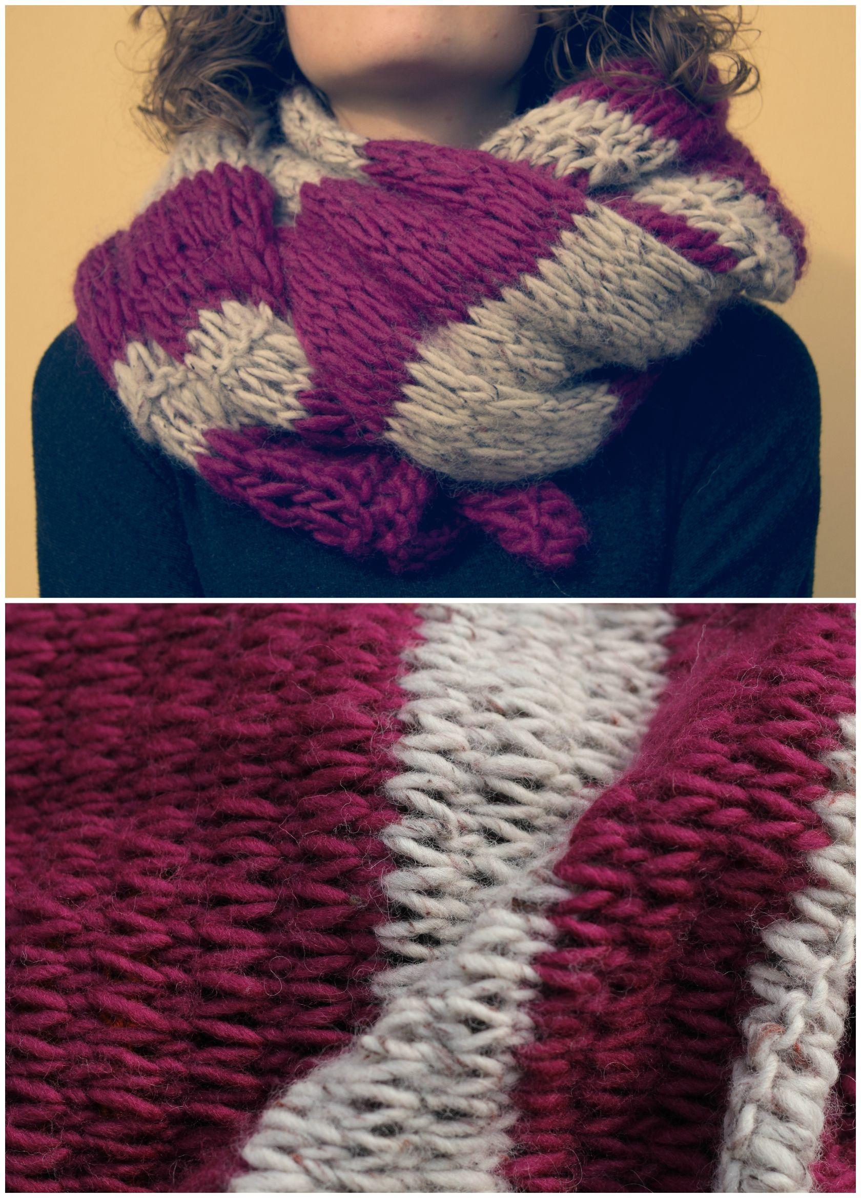 selezione migliore 69e0b c8924 Handmade wool scarf - Sciarpa in lana lavorata ai ferri ...