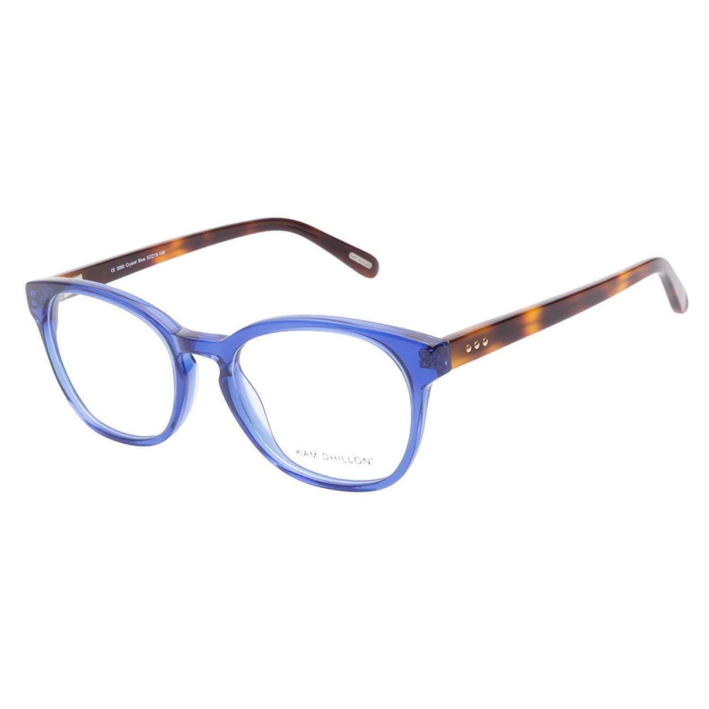 Kam Dhillon 3060 Crystal Blue Prescription Eyeglasses | Eye Spy ...