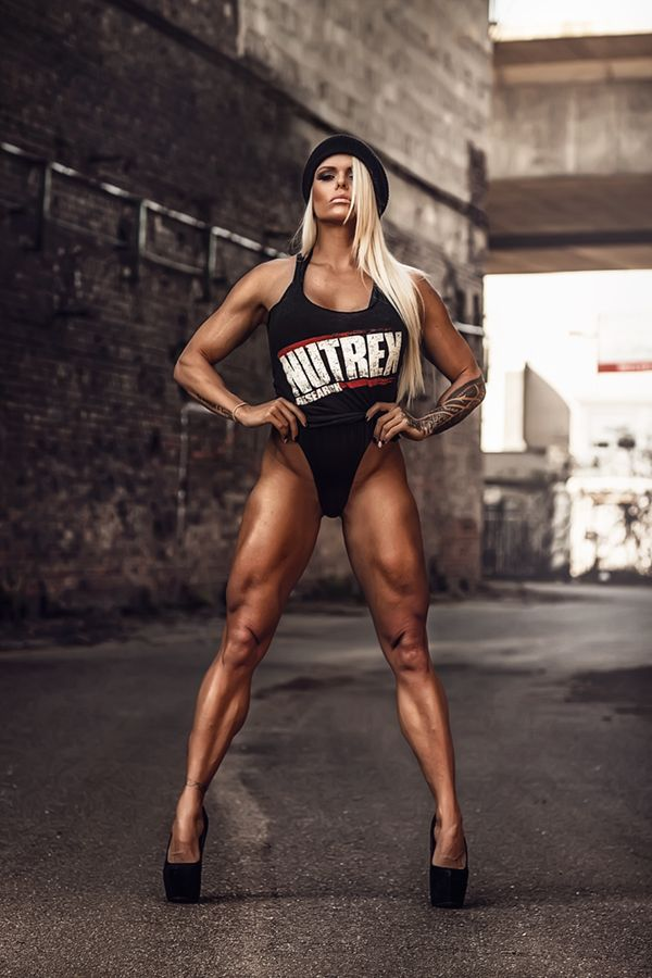 SEXY LONG MUSCULAR DREAM LEGS of blonde Brazilian #Fitness model & IFBB Figure Competitor Larissa Reis : if you LOVE Health, #Fitspo & Female Bodybuilding - you'll LOVE the #Inspirational designs at CageCult Fashion: http://cagecult.com/mma