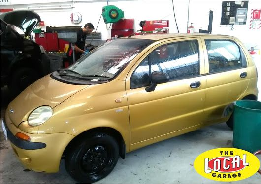 The smallest car we have had into #TheLocalGarageAuckland a #Daewoo