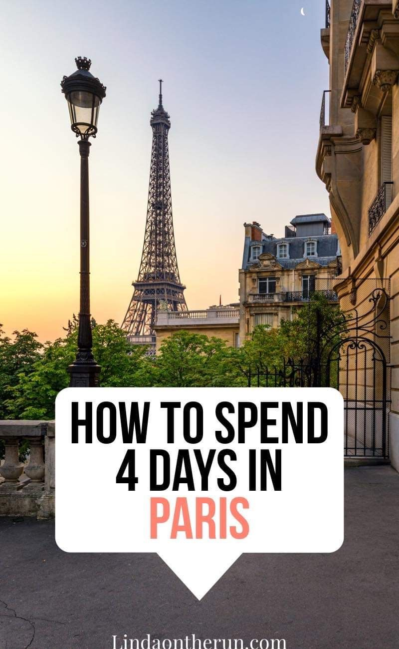 The Ultimate 4 Days In Paris Itinerary 4 Days In Paris Paris Itinerary Paris Travel