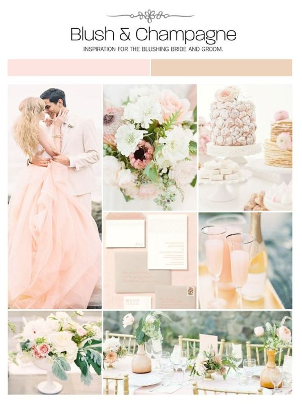 Blush And Champagne Wedding Inspiration Board Color Palette Mood Via Weddings Ilrated By Elsa