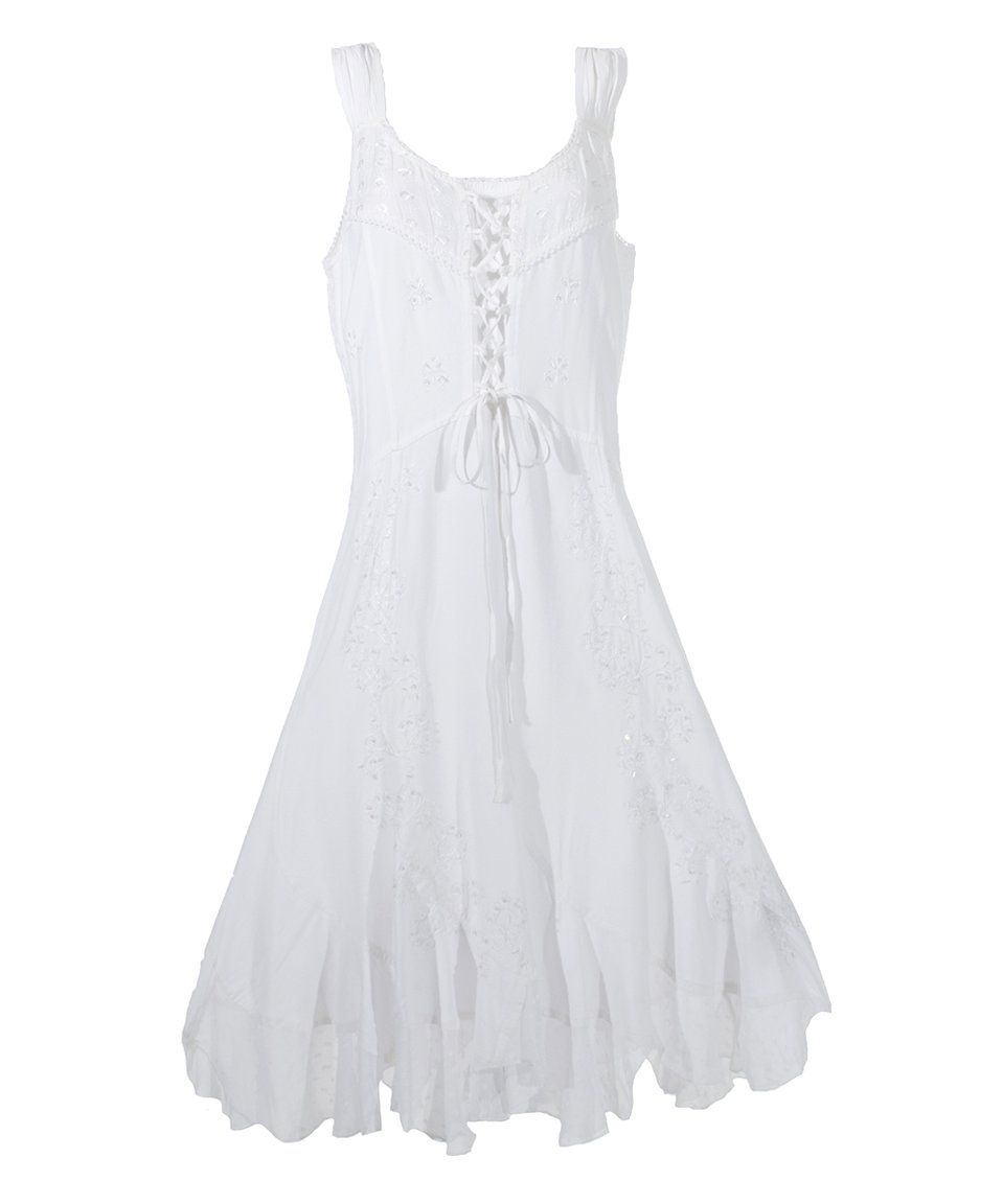 Take A Look At This Coline White Lace Up Peasant Dress Plus Too Today Dresses Peasant Dress White Lace [ 1152 x 959 Pixel ]