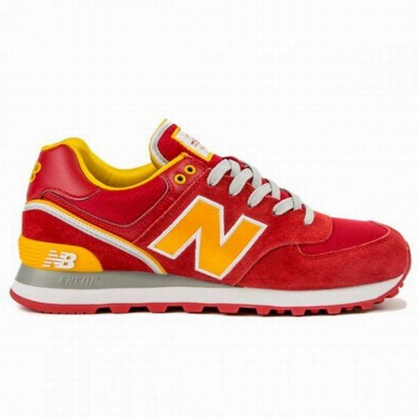 Joes New Balance ML574SJY Red Yellow Mens Shoes