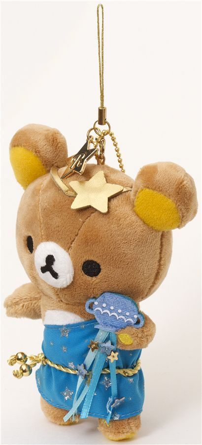 Rilakkuma bear zodiac sign Aquarius plush charm
