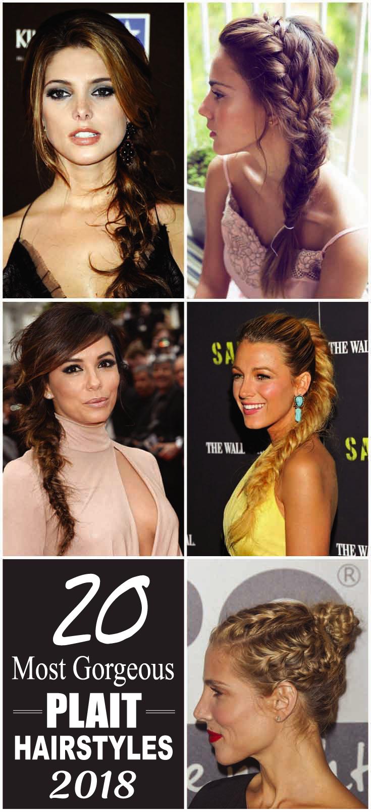 20 Most Gorgeous Plait Hairstyles 2018 Coisas Para Comprar