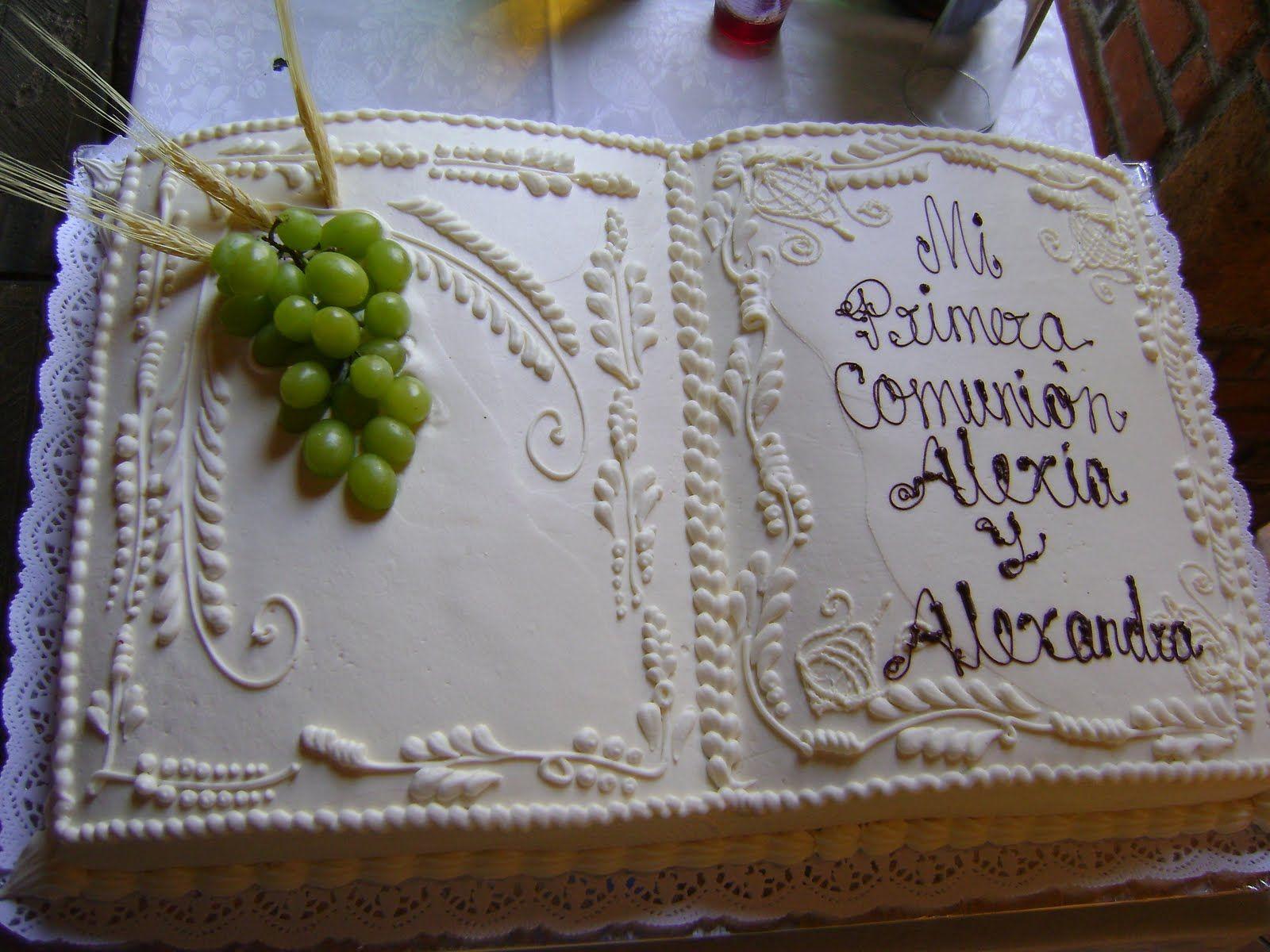 Pastel de primera comunion religious inspired cakes - Como decorar una fiesta de comunion ...
