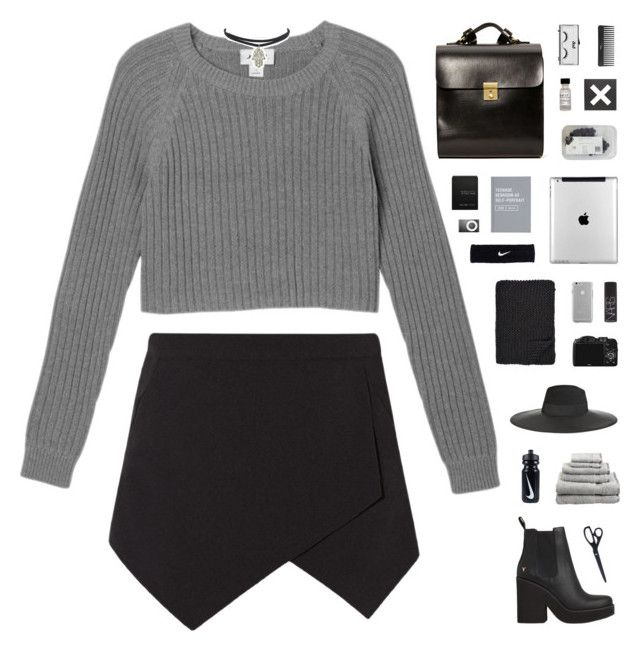 """""""MONO-DRAMA // tag"""" by c-hristinep ❤ liked on Polyvore featuring Monki, Superior, Maison Michel, Kelsi Dagger Brooklyn, CO, Alicia Adams, NIKE, Case-Mate, Sephora Collection and NARS Cosmetics"""