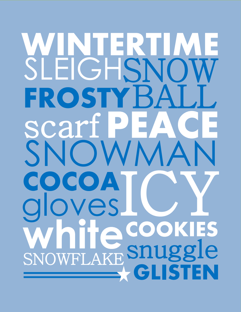 Day 22: Winter Printable | Pinterest