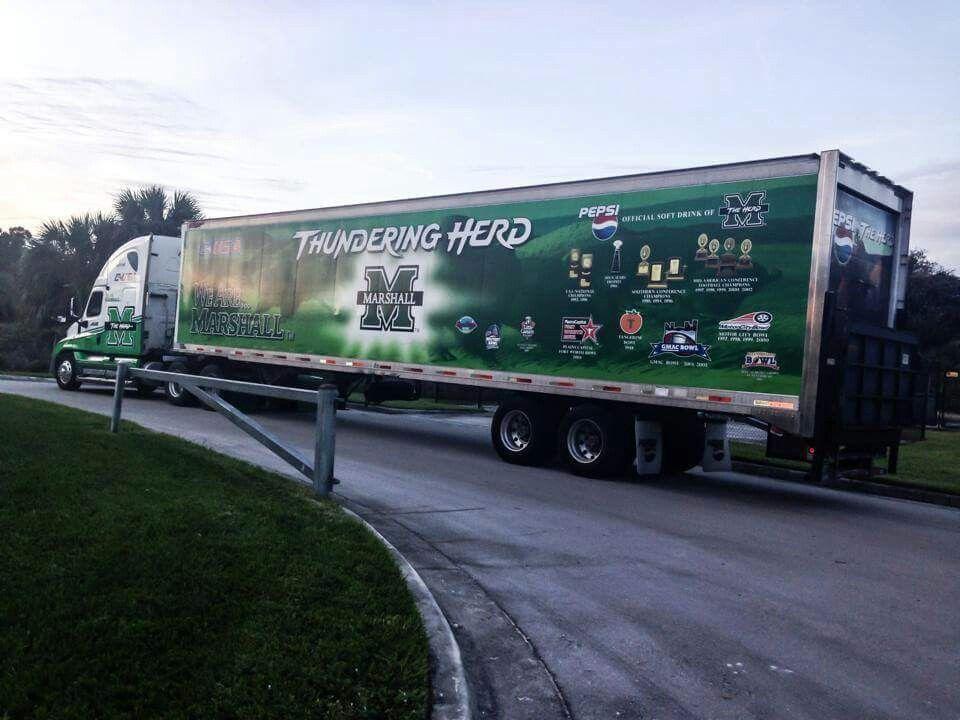 The Herd bus in Boca Raton 1214 West virginia, Marshall