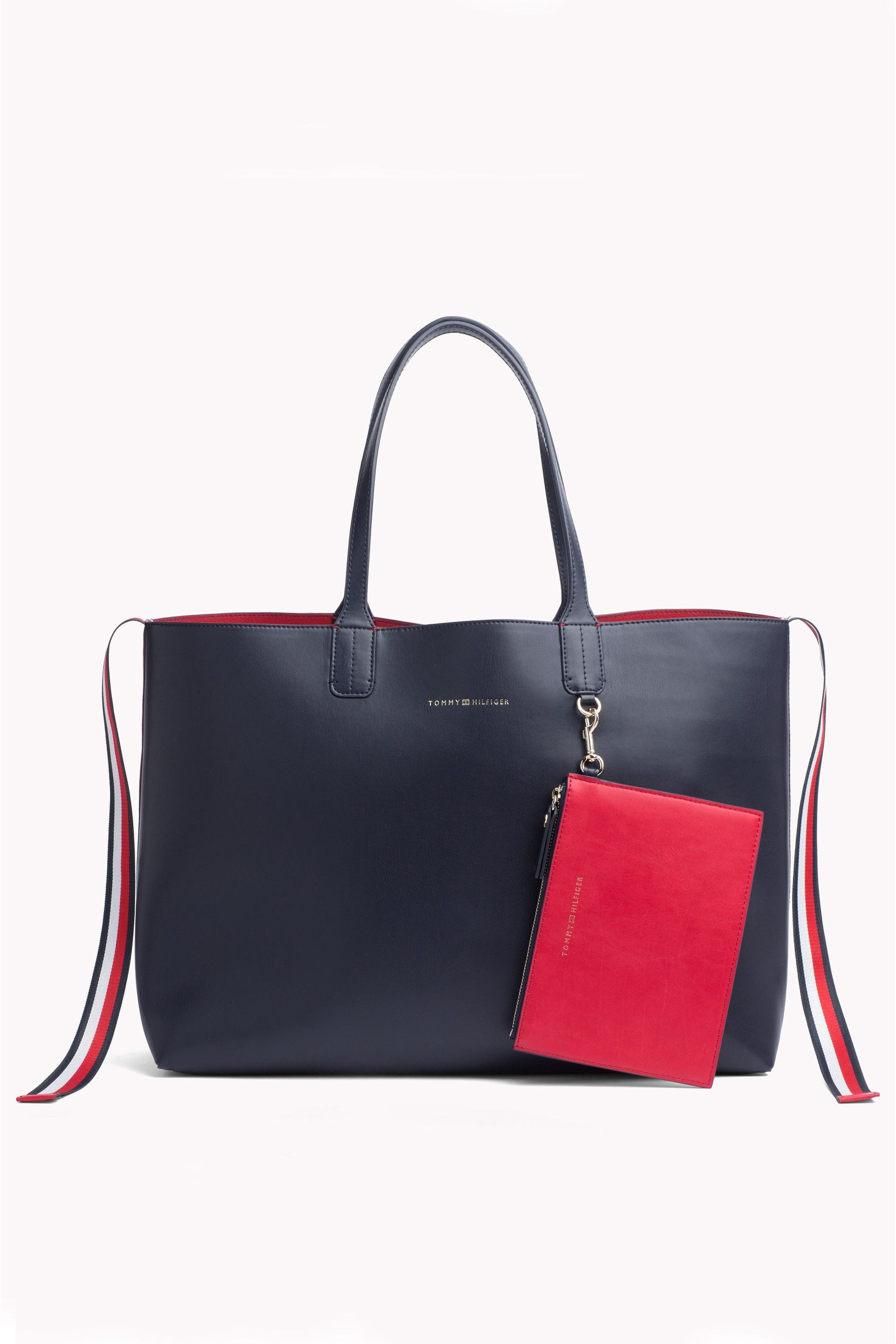 Tommy Hilfiger Red Cool Tommy Faux Fur Tote Bag