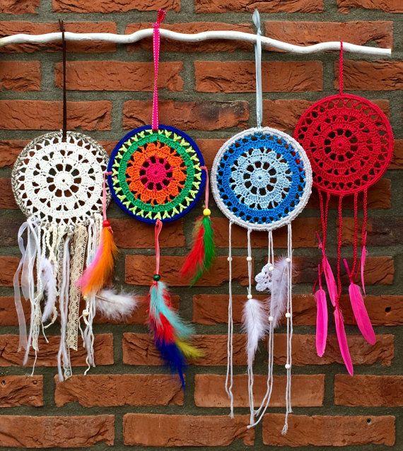 Haakpatroon dromenvanger/ crochet pattern dreamcatcher ...