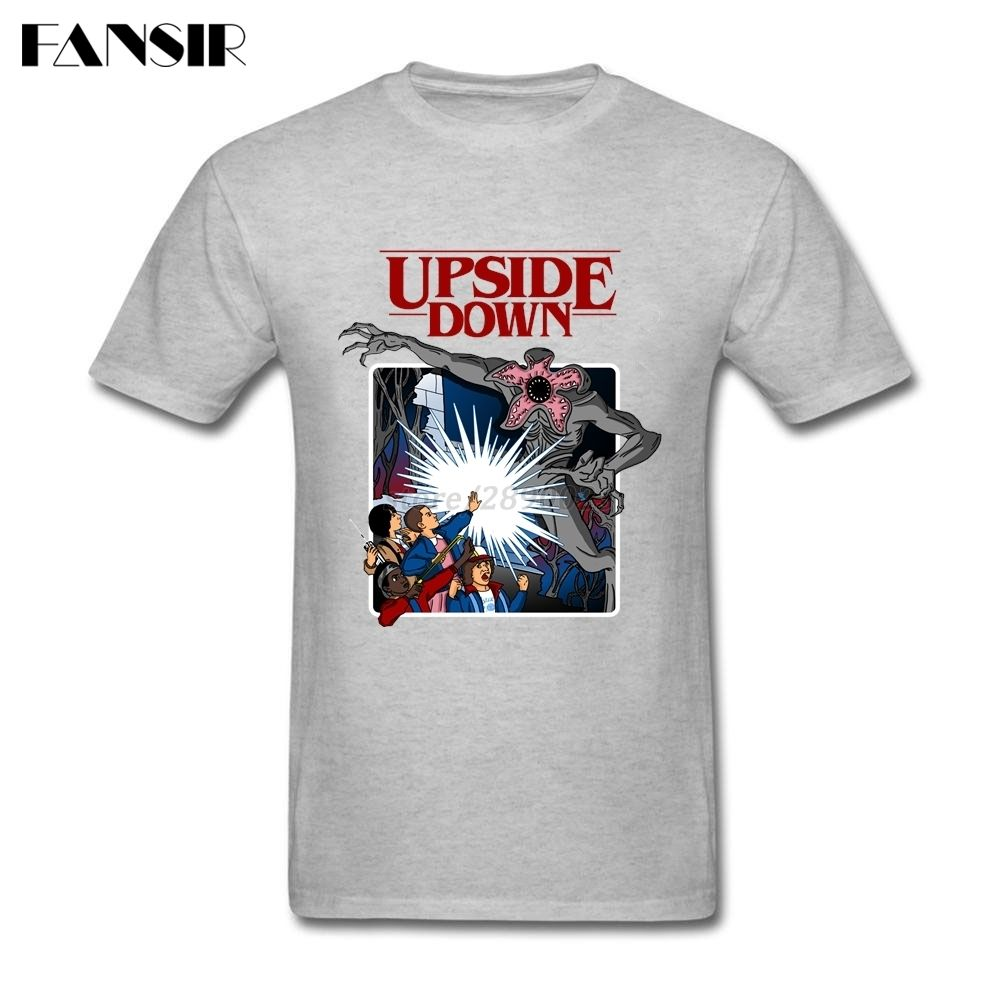 Cartoon Stranger Things Upside Down Latest Designed Tees Shirt Men
